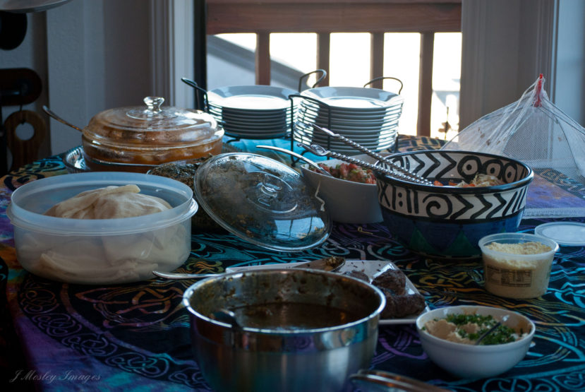 South Sudanese Food Table Setting